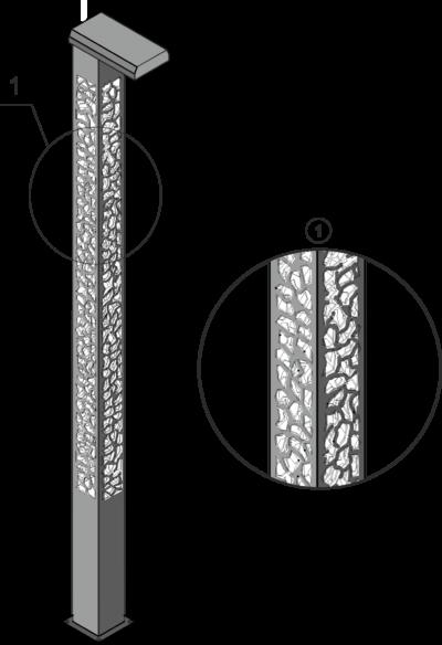 Комплекс осветительный декоративный светодиодный LED (КОДС)