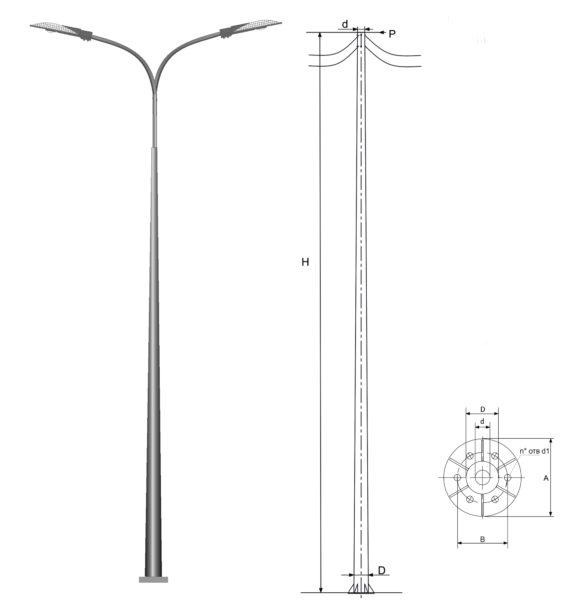 Опора силовая прямостоечная ОККС-0,6-11(3,0)