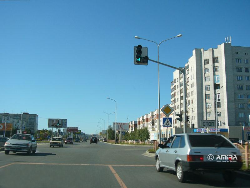 Светофор на улице Мира, Сургут