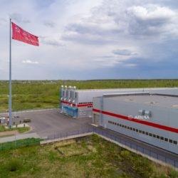 """50-метровый флагшток на заводе Мегаполис (ГК """"АМИРА"""")"""