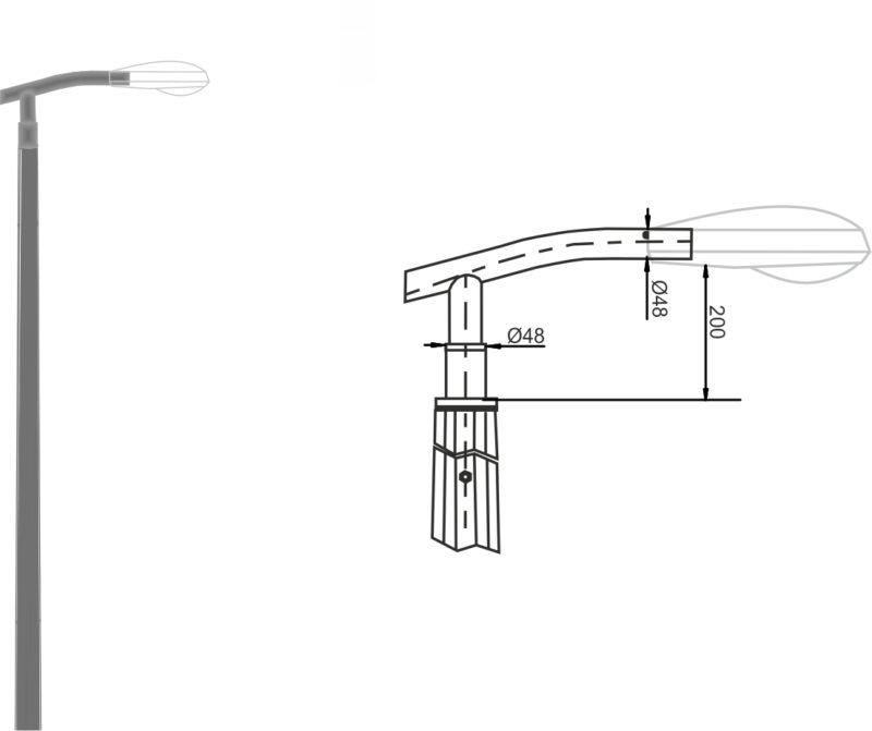 кронштейн К20кв-чертеж