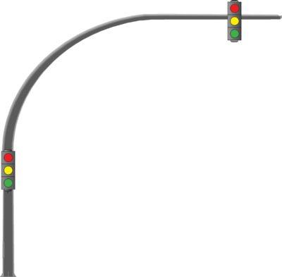 Светофорные стойки изогнутые (ОГСГ)