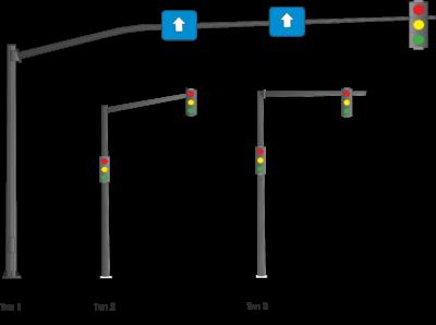 Опоры для светосигнального оборудования (ОГСГ)