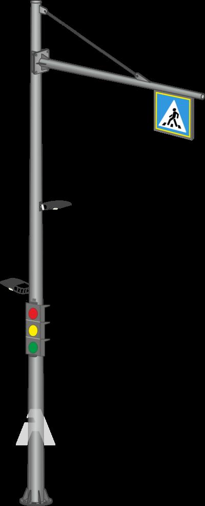 Круглоконические светофорные стойки контрастного освещения (ОКСГ)