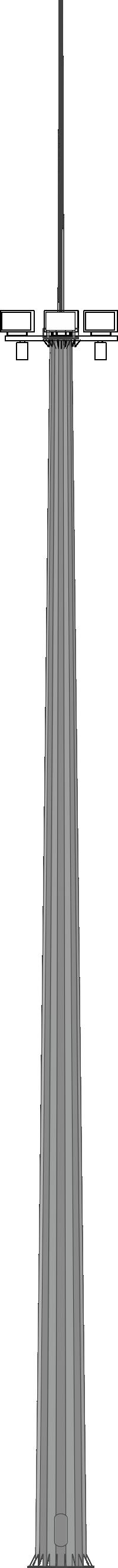 Молниеотводы на базе высокомачтовой опоры освещения с мобильной короной (ВГМ)
