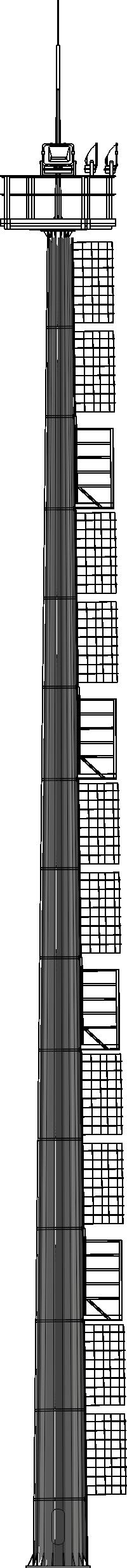 Молниеотводы на базе высокомачтовой опоры освещения со стационарной короной (ВГН)