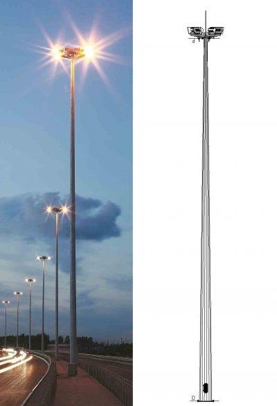 Прожекторная мачта с мобильной короной (ВМО)