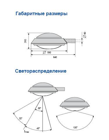 чертеж консольный светильник амира ЖКУ 22-150