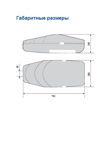 чертеж консольный светильник амира ЖКУ 50N-150-001