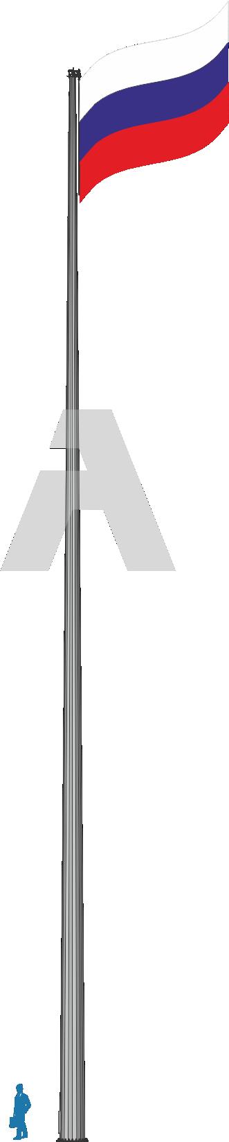 Флагштоки уличные высокомачтовые до 105 м