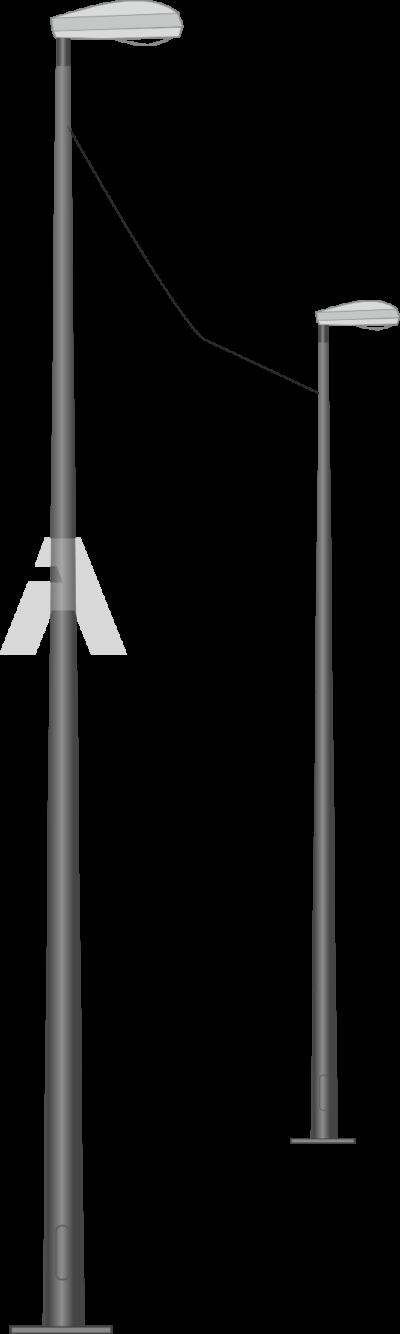 Опора квартальная круглоконическая для воздушной подводки питания (ОКККВ)