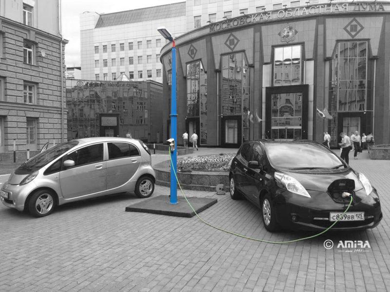 амира опора для зарядки электроавтомобилей