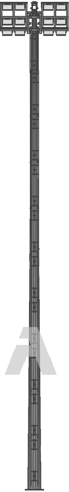 Мачта одностороннего освещения с мобильной короной системы «Парус»
