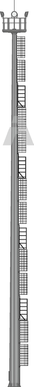 Прожекторные мачты со стационарной короной (ВМОН)